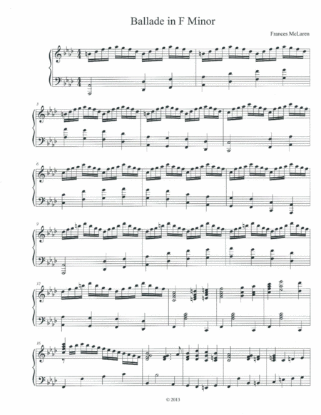 Ballade in F Minor