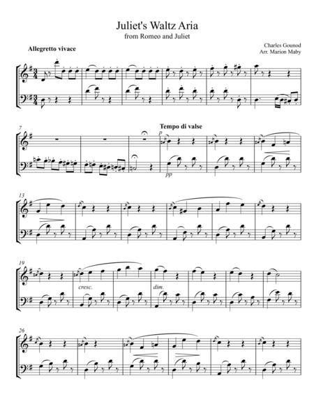 Juliet's Waltz Aria for violin & cello duet