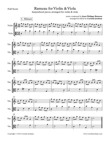 Rameau for Violin & Viola