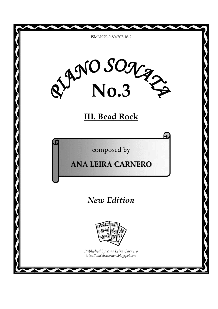BEAD ROCK for solo piano