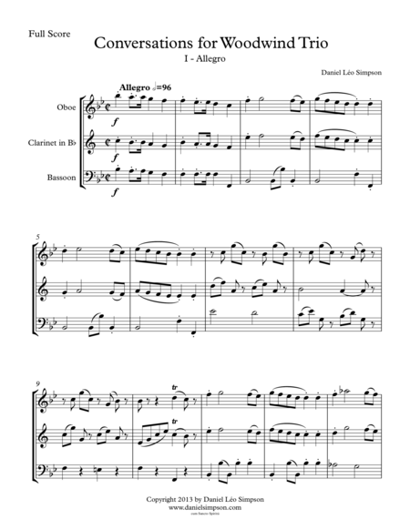 Conversations for Woodwind Trio - 1st Mvt. (Allegro)