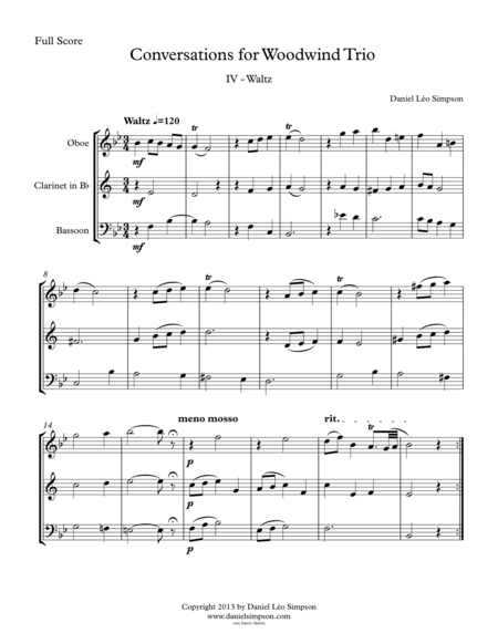 Conversations for Woodwind Trio - 4th Mvt. (Waltz)