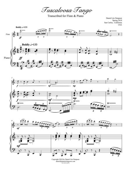 Tuscaloosa Tango for Flute & Piano