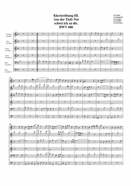 Aus der Tiefe Not schrei ich zu dir from Klavieruebung III, BWV 686