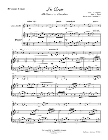 La Coza for Bb Clarinet & Piano