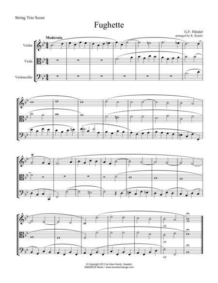 Fughette for string trio