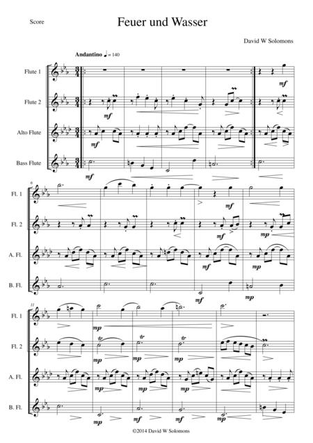 Feuer und Wasser (Fire and Water) for flute quartet