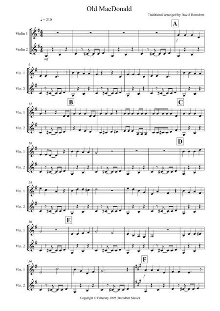 Old MacDonald! for Violin Duet