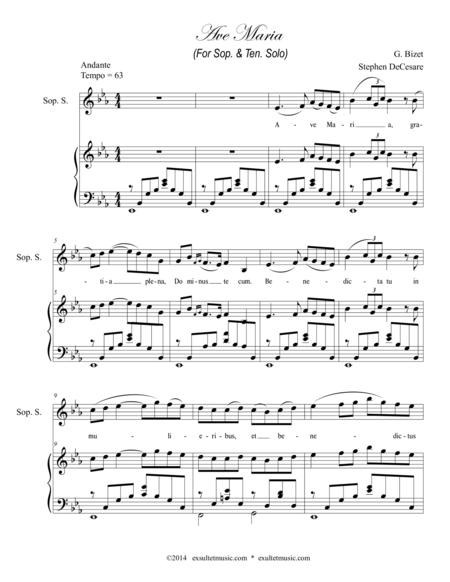 Ave Maria (for Soprano & Tenor Solos)