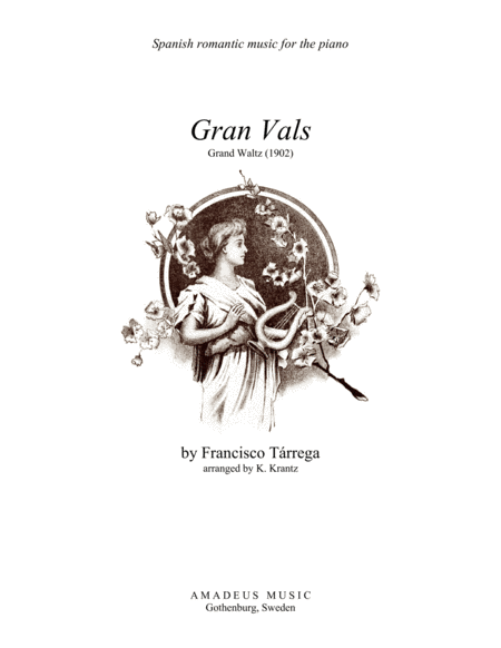Gran Vals / Grand Waltz for piano solo