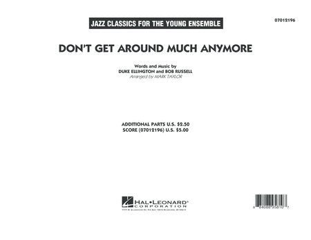 Don't Get Around Much Anymore - Conductor Score (Full Score)