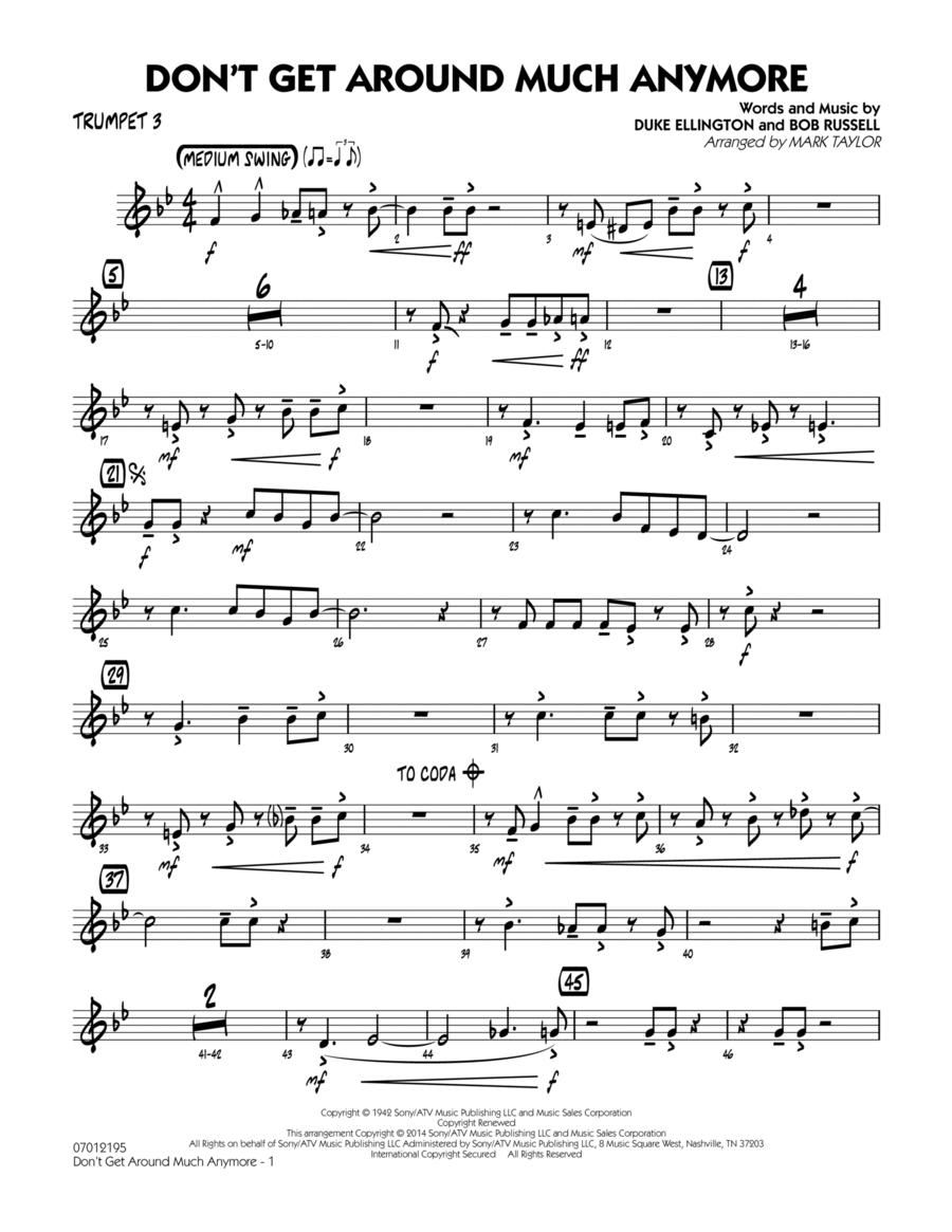 Don't Get Around Much Anymore - Trumpet 3