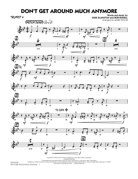 download don 39 t get around much anymore trumpet 4 sheet music by duke ellington sheet music plus. Black Bedroom Furniture Sets. Home Design Ideas