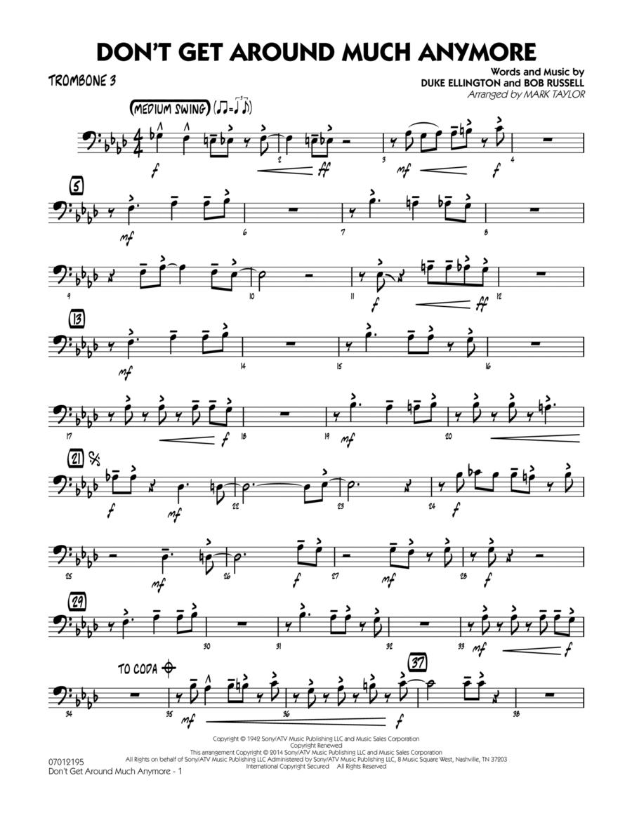 Don't Get Around Much Anymore - Trombone 3