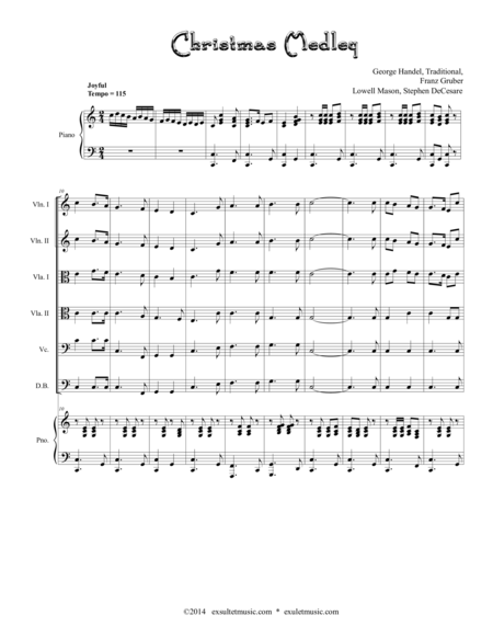 Download Christmas Medley (for String Orchestra) Sheet Music By ...