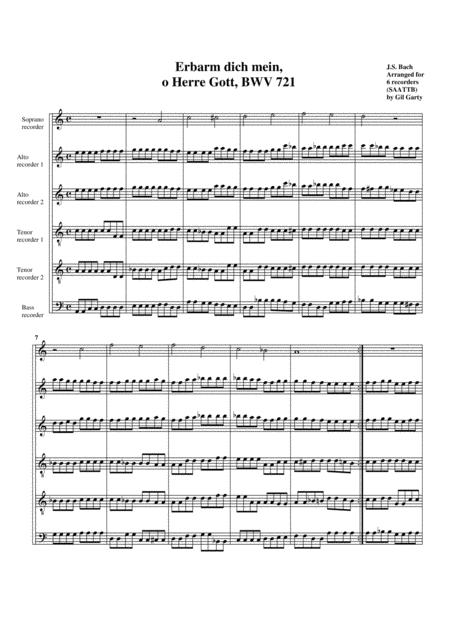 Erbarm dich mein, o Herre Gott, BWV 721