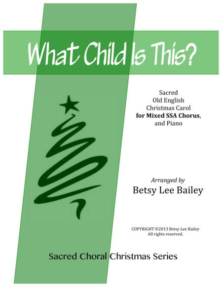 What Child Is This? - SSA Treble Chorus and Piano