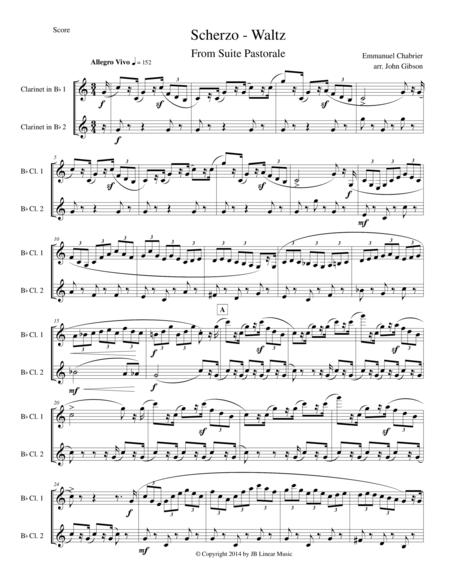 Chabrier - clarinet duet - Scherzo from Suite Pastorale