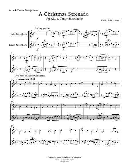 Christmas Serenade for Alto & Tenor Saxophones
