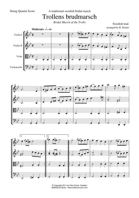 Trollens brudmarsch for string quartet
