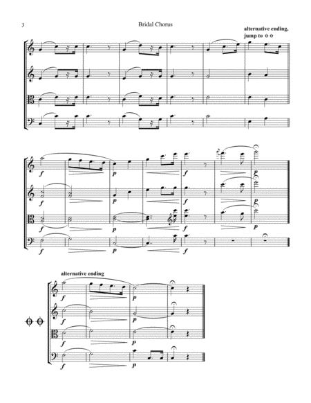 Bridal Chorus / Here Comes the Bride! for string quartet