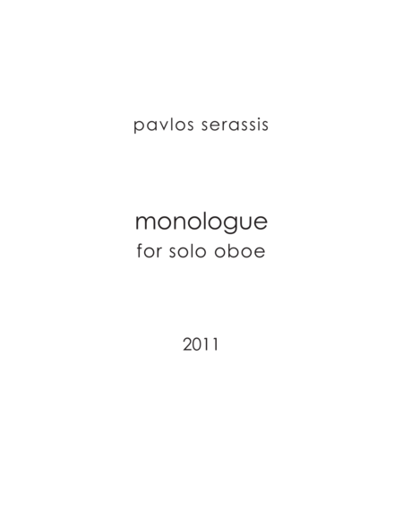 monologue (2011) for oboe