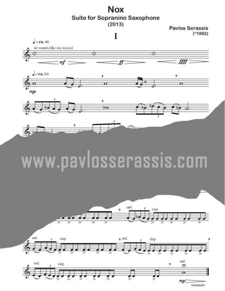 Nox (2013) Suite for sopranino saxophone