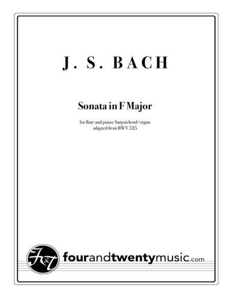 Sonata in F Major for Flute and Keyboard, BWV 525