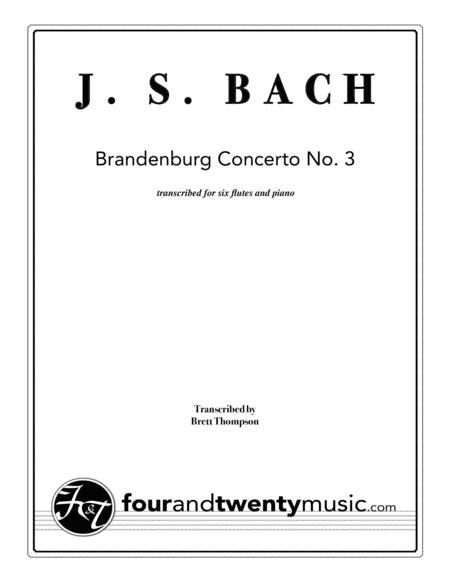 Brandenburg Concerto no 3, transcribed for 6 flutes and piano