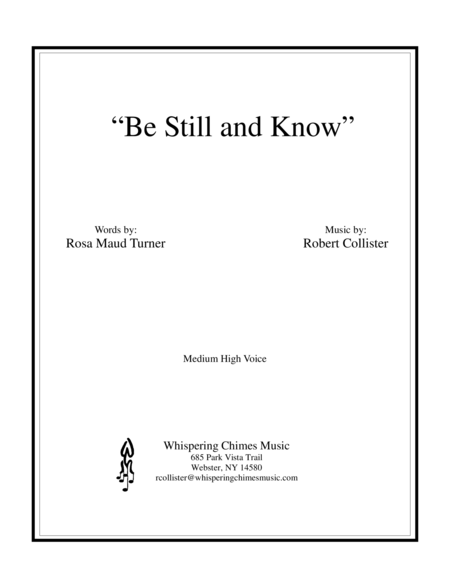 Be Still and Know (medium high voice)