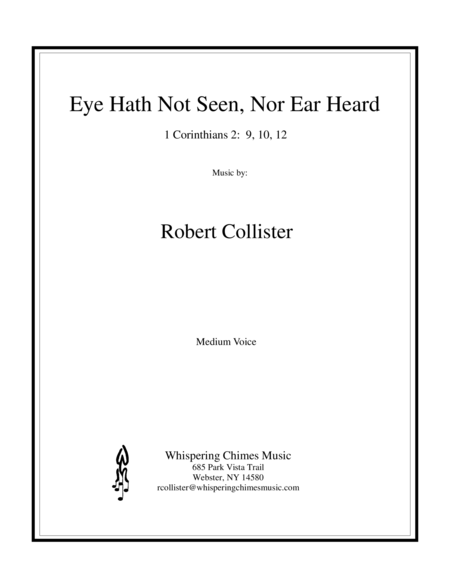 Eye Hath Not Seen, Nor Ear Heard (medium voice)