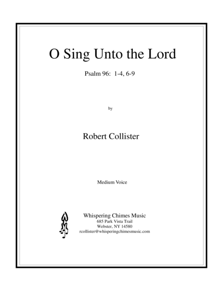 O Sing Unto the Lord (medium voice)