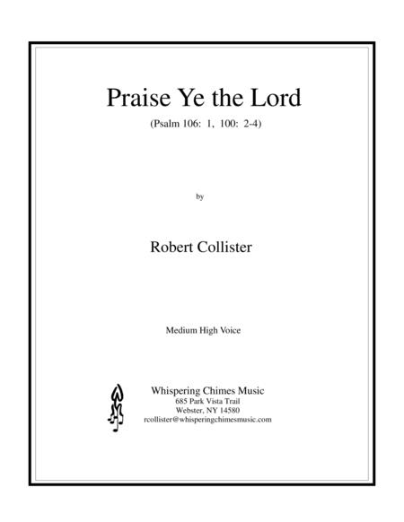 Praise Ye the Lord (medium high voice)