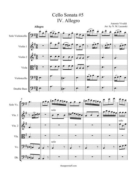 Cello Sonata RV40 Movement 4