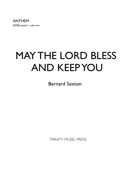May the Lord Bless and Keep You