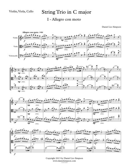 String Trio in C Major (Violin, Viola, Cello) 1st Mvt.