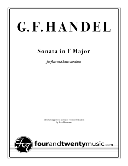 Sonata in F Major for Flute/ recorder and continuo/ piano, opus 1 no 11/HWV 369
