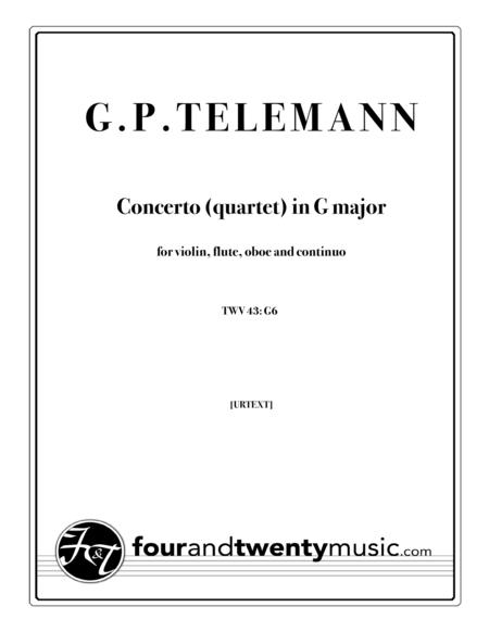 Telemann - Concerto (Quartet) in G - TWV 43 G6 [Urtext]