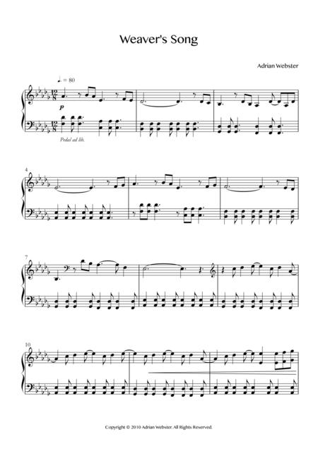 Weaver's Song - CrusaderBeach - Beautiful Relaxing Piano Solo