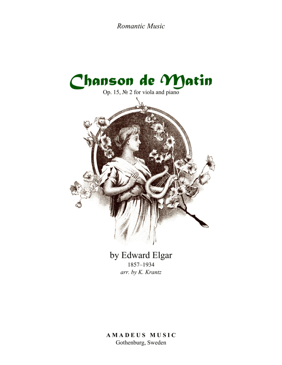 Chanson de Matin for viola and piano