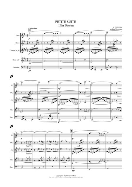 Debussy: Petite Suite: Mvt.I