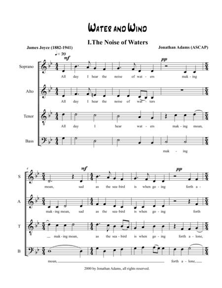 Water and Wind - I. The Noise of Waters