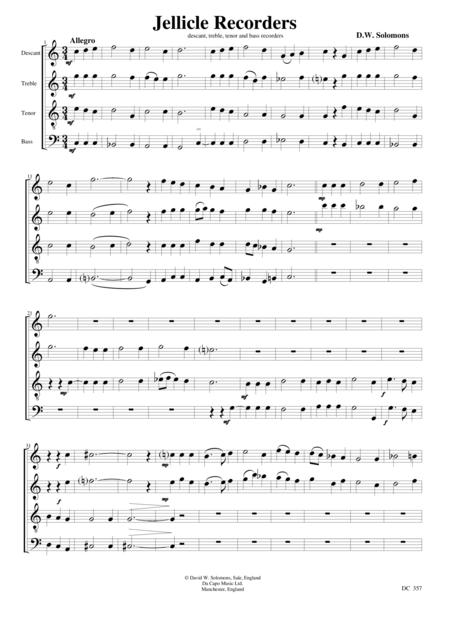 Jellicle Quartet - for recorders