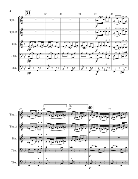 Pineapple Rag - for brass quintet