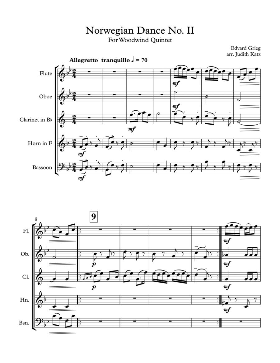 Norwegian Dance No. II - for woodwind quintet