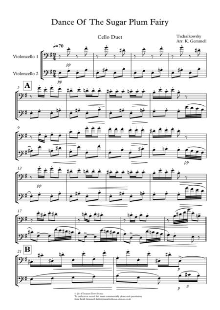 Dance Of The Sugar Plum Fairy: Cello Duet