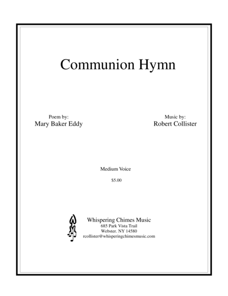 Communion Hymn medium voice