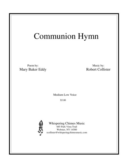 Communion Hymn medium low voice
