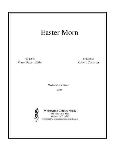 Easter Morn medium low voice