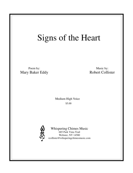 Signs of the Heart medium high voice